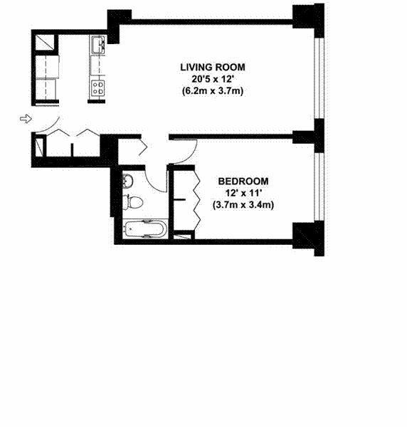 East 54th Street 245, New York, New York, New York, United States 10022, 1 Bedroom Bedrooms, ,1 BathroomBathrooms,Co-op,SOLD,The Brevard,245,18,1107