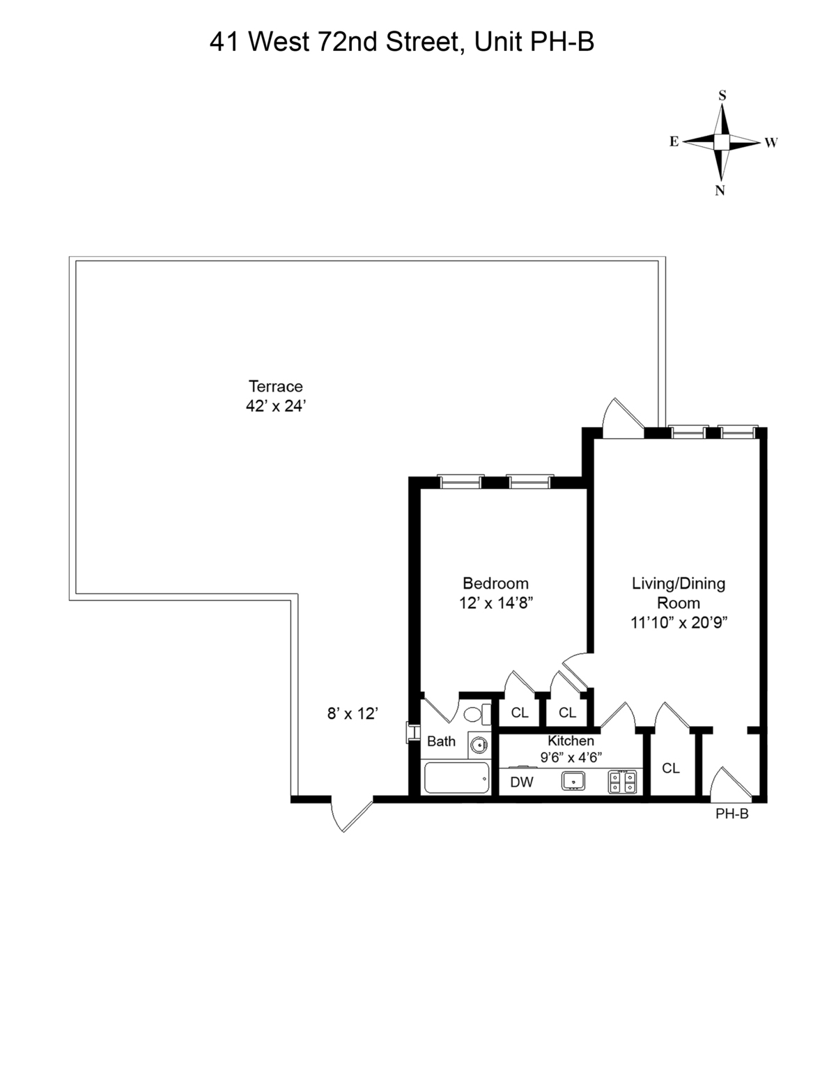 41 West 72nd, New York, New York, New York, United States 10023, 1 Bedroom Bedrooms, ,1 BathroomBathrooms,Condo,For Rent,The Hermitage,West 72nd,18,1120