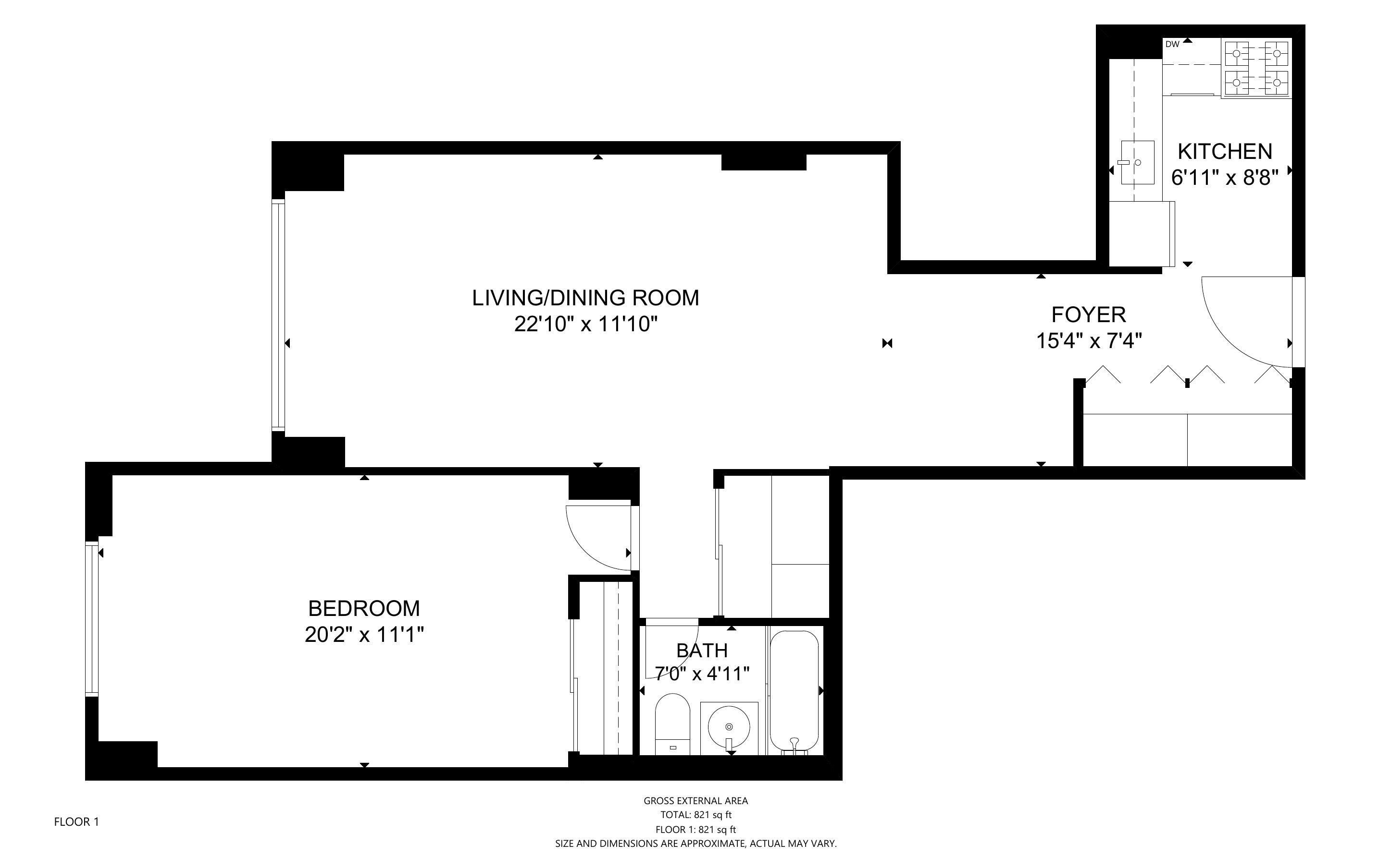 305 East 24th Street, New York, New York, New York, United States 10010, 1 Bedroom Bedrooms, ,1 BathroomBathrooms,Co-op,FOR SALE,New York Towers,East 24th Street,1141
