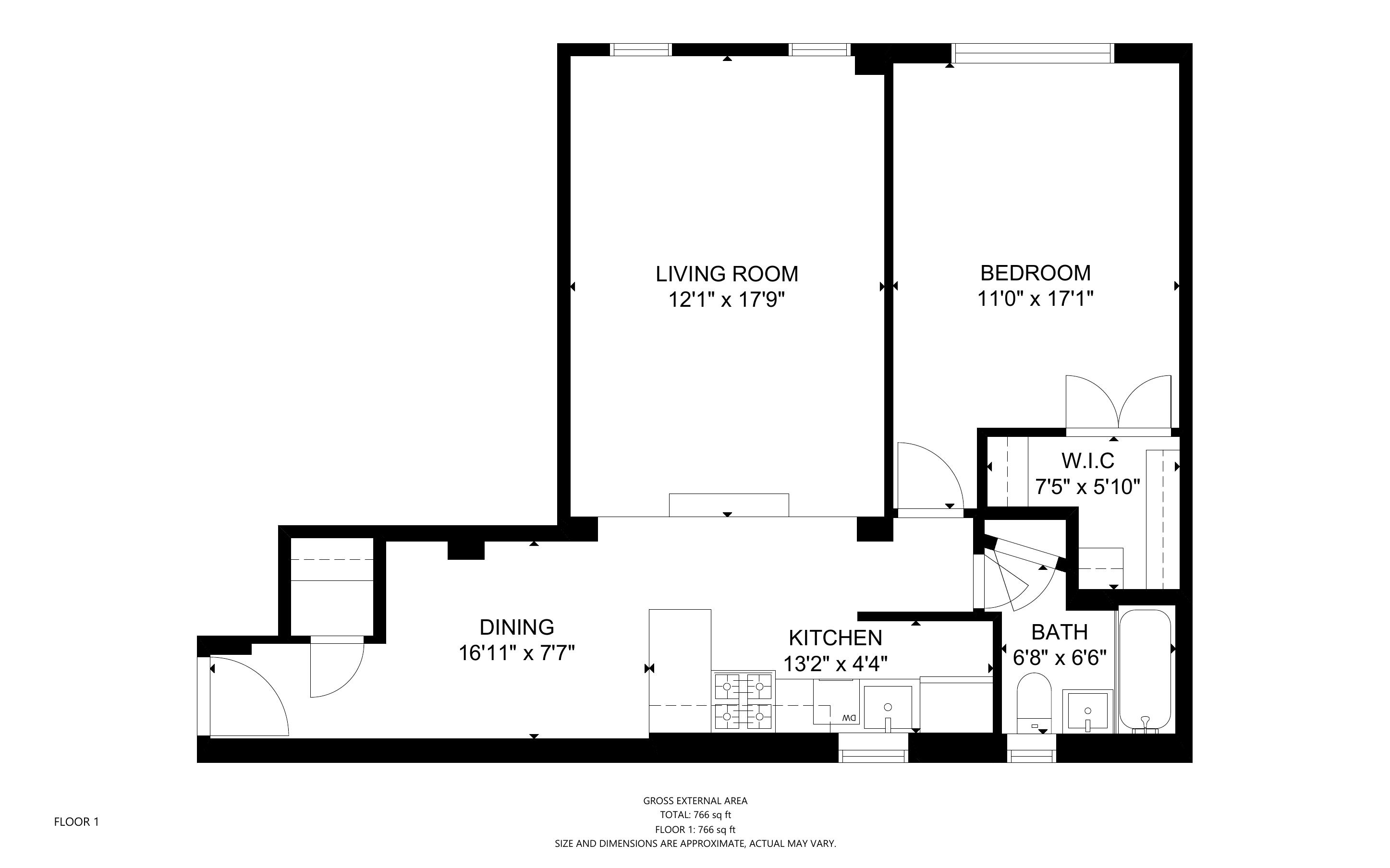 210 West 19th, New York, New York, New York, United States 10011, 1 Bedroom Bedrooms, ,1 BathroomBathrooms,Condo,For Rent,West 19th,1146