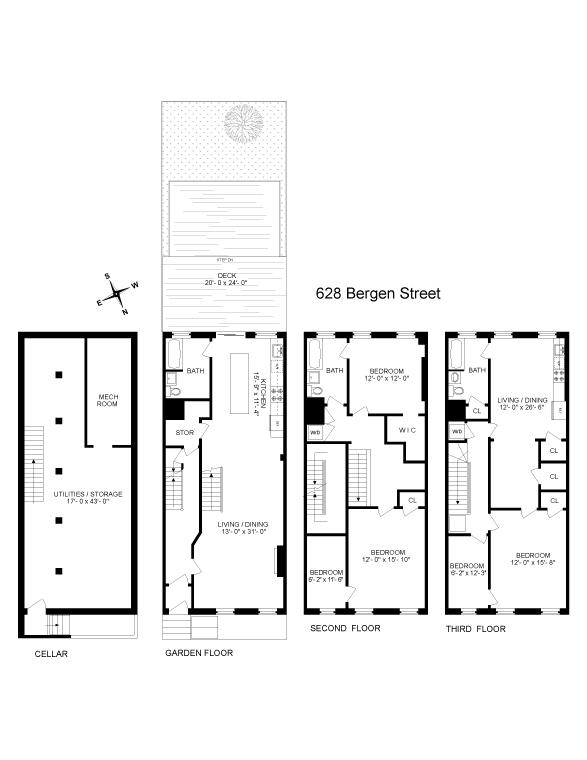 628 Bergen, Brooklyn, Kings, New York, United States 11201, 5 Bedrooms Bedrooms, ,3 BathroomsBathrooms,Townhouse,SOLD,Bergen,1164